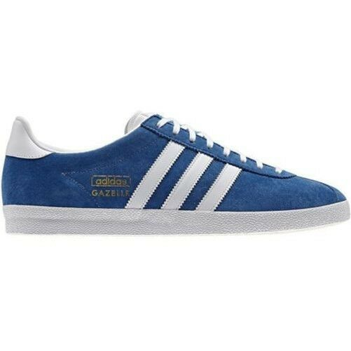 adidas ORIGINALS GAZELLE OG TRAINERS BLUE WHITE CLASSIC RETRO 80S CASUALS SHOES