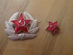 Genuine-USSR-CCCP-Soviet-Russian-Communist-Party-Army-Hat-Pins