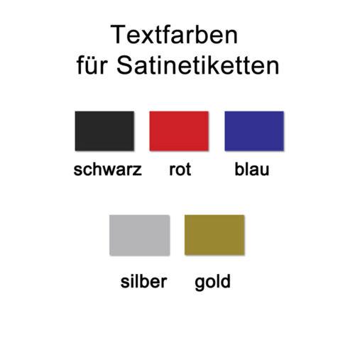 Stoffetiketten mit Ihrem Text Bedruckte Namensetiketten 7,0 x 1,5 cm weiß