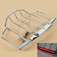 Chrome Led Air Wing Tour Pak Pack Trunk Luggage Rack For Harley Road King Glide
