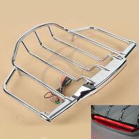 Tour Pak Pack Trunk Luggage Rack W/ Led Light For Harley Touring Models 93-13