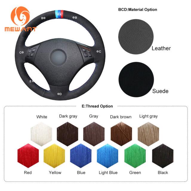 Black Soft Suede Steering Wheel Cover for BMW 3 Series E90 E91 E92 E93 2006-2011   eBay