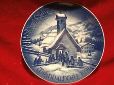 Bareuther Waldsassen Bavaria Weihnachtsteller   1976 Kapelle in den Bergen
