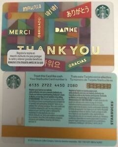 2015 Mexico Starbucks Thank You Gift Card 6135 No Value Mint Ebay