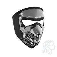 Small Glow In Dark Skull Black White Child Size Reversable Neoprene Face Mask
