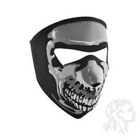 Small Glow In Dark Skull Black White Child Size Reversable Neoprene Face Mask