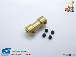 2 / 3 / 3.17 / 4 / 5mm Width Brass Shaft Coupling Connector Coupler RC Toy Motor