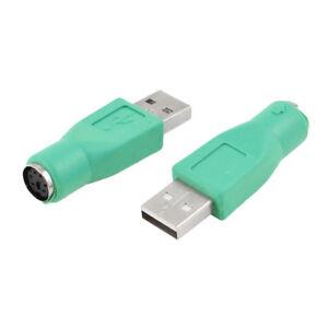 2-Pzs-USB-macho-a-PS-2-hembra-Conector-adaptador-de-teclado-raton-P7
