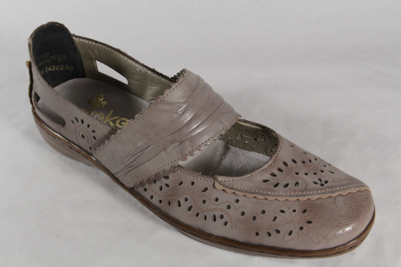 Rieker Slippers Ballerinas Pepper Pepper Pepper Leather with soft leather insole NEW 2433cf