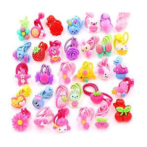 10pcs Lot Children Elastic Rope Hair Band Candy Color Headbands Girls Headwear 6957999928348