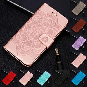 Pour-Xiaomi-Redmi-Note-7-6-Tournesol-Flip-Stand-Carte-Portefeuille-etui-en-Cuir