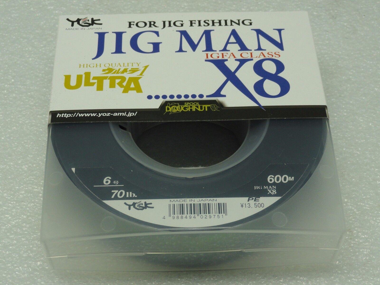 YGK JIG MAN IGFA CLASS X8 8 Braided PE 6 line SPECTRA lb 600m Made in Japan