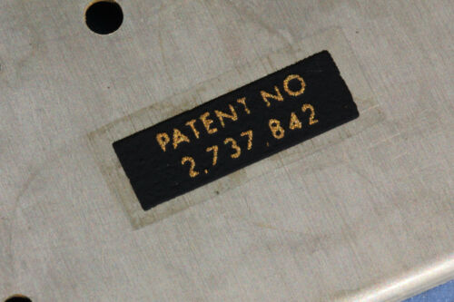 """Aged correct 1957 PAF Base with /""""Pat.No/"""" Sticker"""