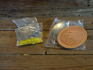1986 TANDY SCREAMING EAGLE BUCKLE / EAGLE LEATHER BUCKLE KIT NEW