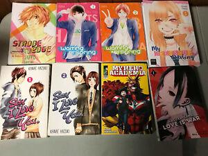 Manga-Lot-of-8-Shojo-Shonen-Jump-etc-My-Hero-Academia-Love-Is-War-Etc