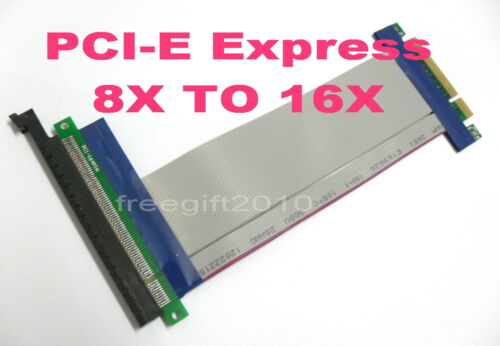 PCI-E Express Adapter Extender Cable 8X to 16X //x8 to x16 Riser Card For 1U 2U