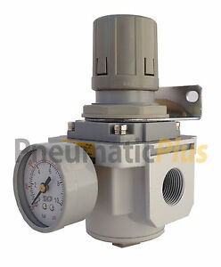 "Air Regulator 3/4"" NPT with Gauge & Bracket"