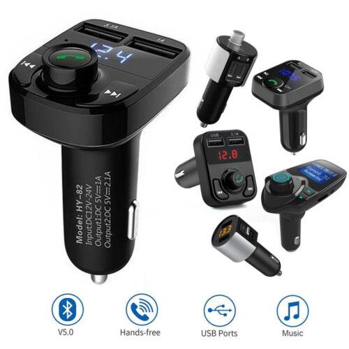 Bluetooth FM Transmitter KFZ Auto MP3 Player USB Ladegerät Adapter 3.5mm AUX SD