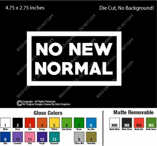 5.75inch No New Normal Die Cut Decal Sticker Car Resist Freedom Infringe Rights