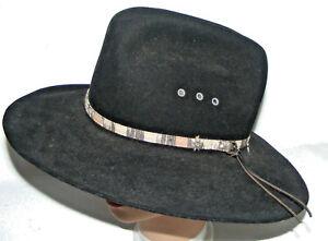 e68dd0c686e94e Western Cowboy Hat Bailey Durango 6 7/8 Black Wool 2x Dynaflex | eBay