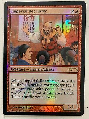 1 PROMO FOIL Imperial Recruiter Red Judge Mtg Magic Rare 1x x1