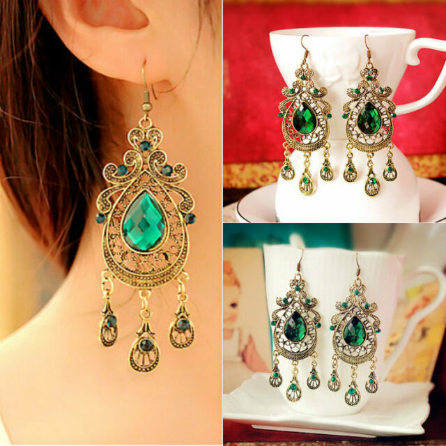 Hot Women Elegant Jewelry Crystal Dangle Earhook Eardrop Earrings Party 1 Pair