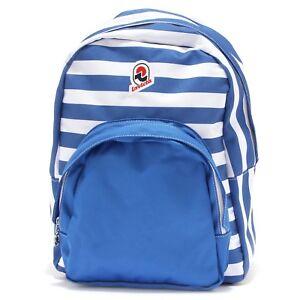 6e486e61ba Caricamento dell'immagine in corso 8342T-zaino-INVICTA -riga-blu-bianco-backpack-bag