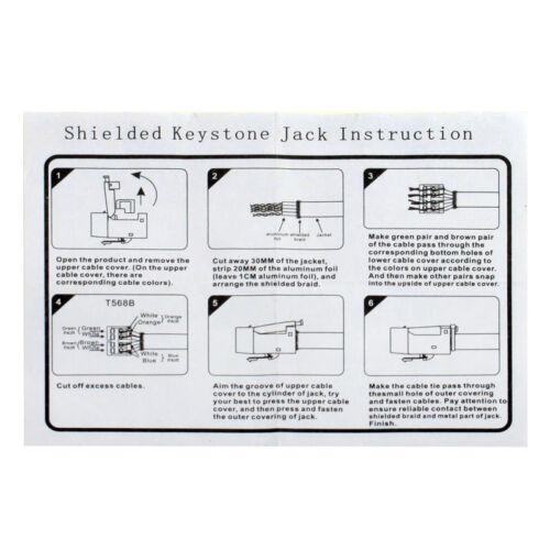 Keystone face plate Wall Mount 2 x cat6a rj45 MODULO KEYSTONE ral9010 Network