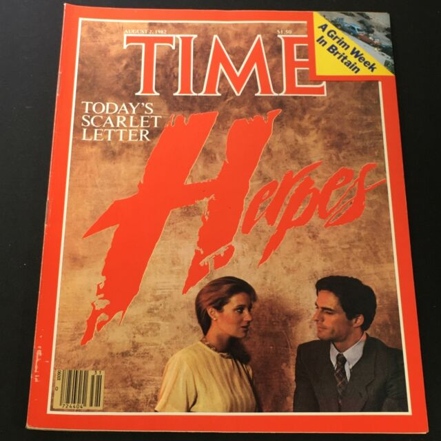 Time Magazine-August 2, 1982-Today's Scarlet: Herpes (Time ... |Time Magazine Herpes