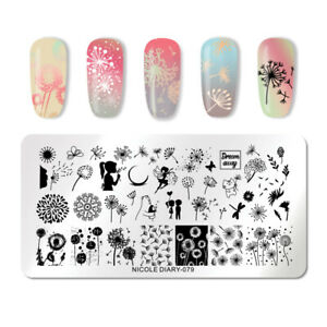 NICOLE-DIARY-Rectangle-Nagel-Schablone-Stainless-Steel-Nail-Stamp-Template-079