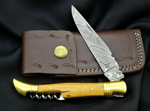 Taschenmesser-Laguiole-Damastmesser-Jagdmesser-Klappmesser Holzgriff- AB906