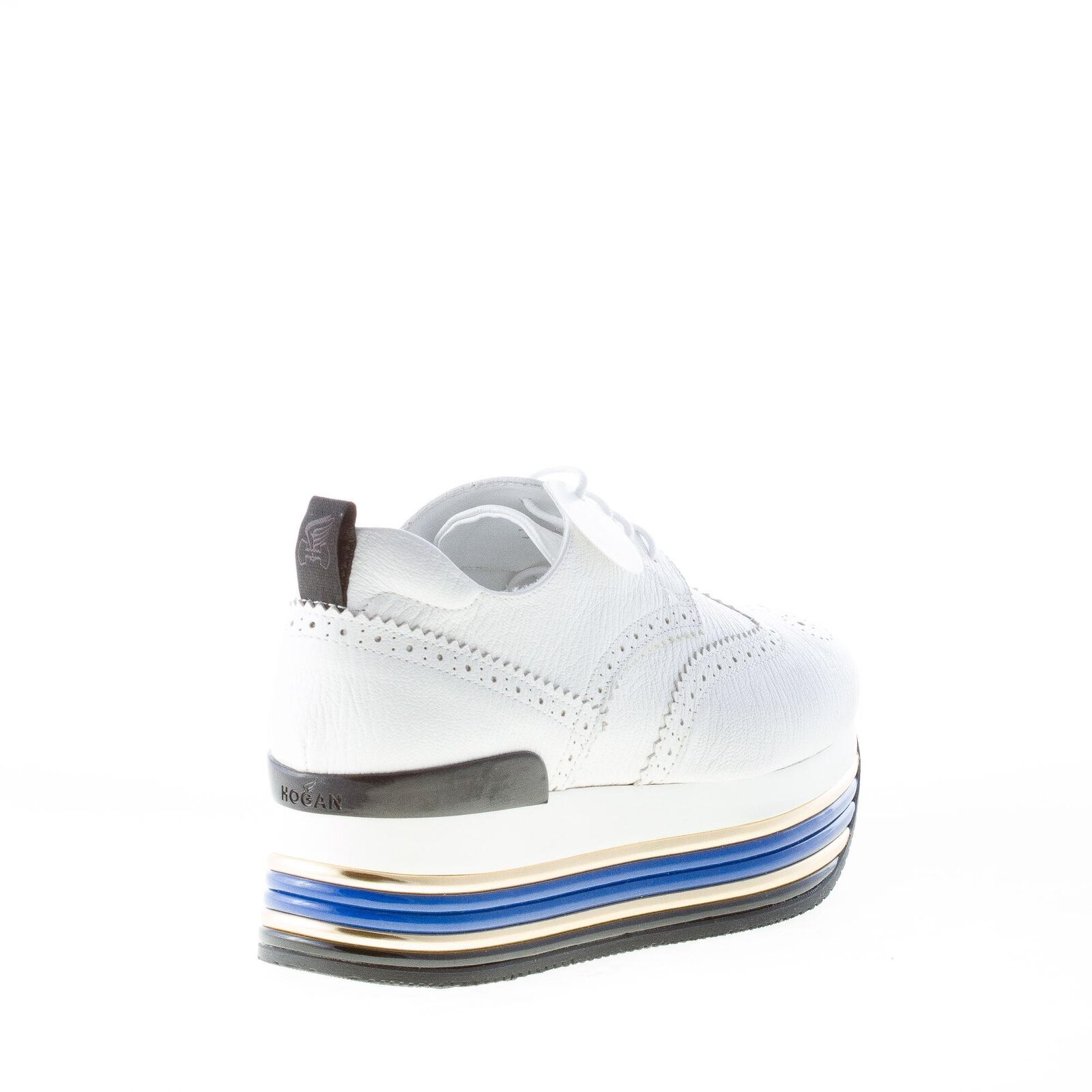 HOGAN femmes chaussures chaussures chaussures Maxi H222 blanc pebbled leather derby with wingtip detail 3eb42d