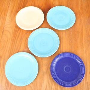 5-Fiestaware-Salad-Plates-Various-Colors-Fiesta-Homer-Laughlin
