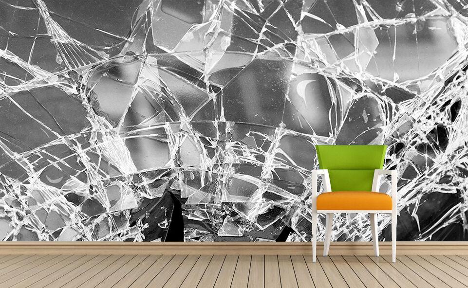 3D Geplatzte kristallglas7540 Fototapeten Wandbild Fototapete BildTapete Familie