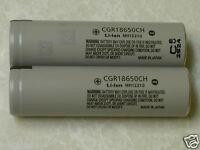 2 PANASONIC CGR18650CH HIGH DRAIN 10A Hybrid IMR Li-on 18650 Battery 2250mAh NEW