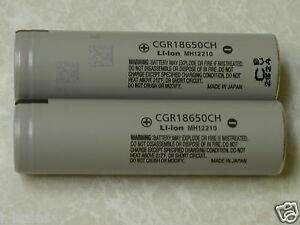 2-PANASONIC-CGR18650CH-HIGH-DRAIN-10A-Hybrid-IMR-Li-on-18650-Battery-2250mAh-NEW