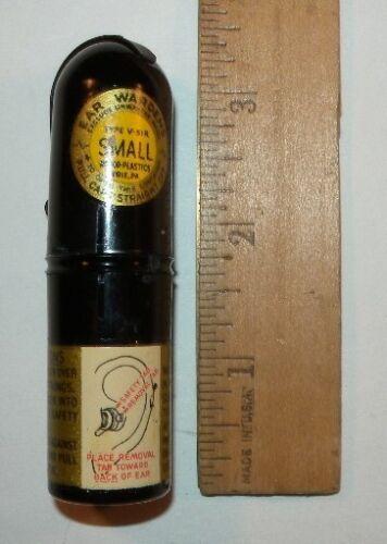 Original WWII Ear Warden Ear Plugs V-51R Size Small Free Shipping
