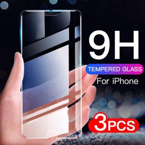 3PCS Para iPhone 11 Pro Max XR XS X 8 7 6  SE Protector Pantalla Vidrio Templado