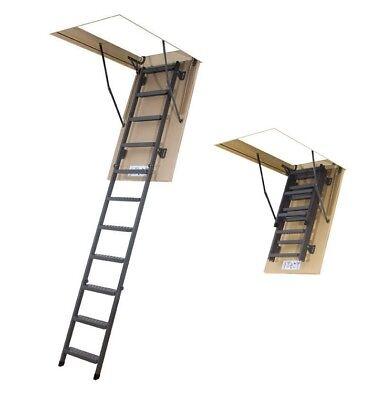 Qualifiziert Bodentreppe H280 70x140 Mit Metallleiter 130x70 Speichertreppe Fakro Lms