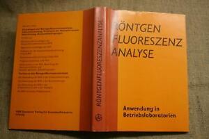 Fachbuch-Labortechnik-Roentgenfluoreszenzanalyse-Roentgenanalyse-Roentgen-1981