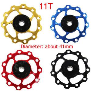 Derailleur Ceramic Bearing Rear Pulley Jockey Wheel Road Bike Guide Roller 11//13