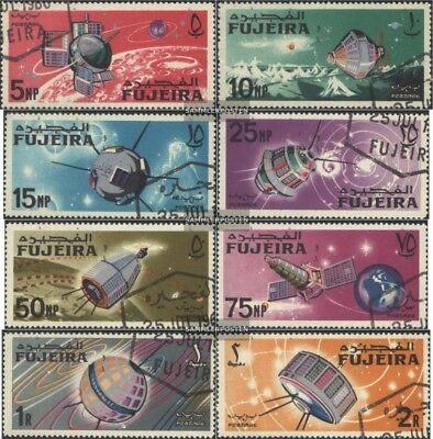 kompl.ausg. 100% Wahr Fujeira 70a-77a Gestempelt 1966 Weltraumforschung
