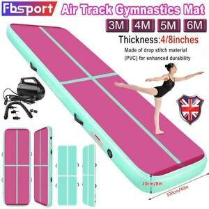 3//4//5//6m x20cm Inflatable Air Track Tumbling Gymnastic Mats Floor Training Pump
