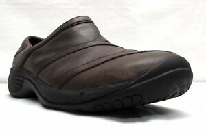 Merrell-women-039-s-size-9-brown-leather-loafers-shoes-comfort-Q-Form-air-cushion