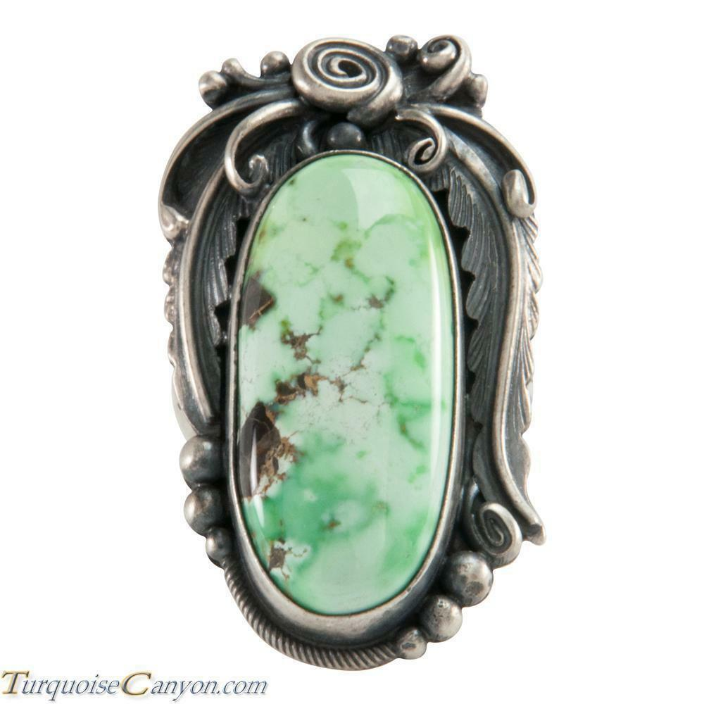 Navajo Native American Carico Lake Turquoise Ring Size 6 by Juan SKU226281
