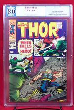 Thor #149 (Marvel 1968) PGX (not CGC) 8.0 VF Inhumans Origin  & The Wrecker HTF!