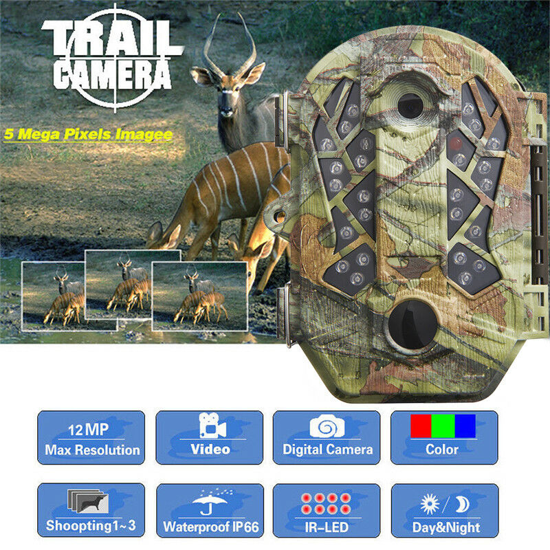 Infrared Night Vision IR 16MP Digital Game  Trail Security Camera Hunting Cam  up to 42% off