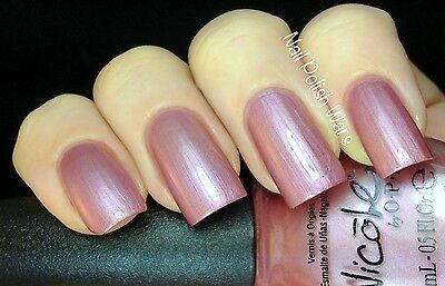 NEW! Nicole By OPI nail polish lacquer PERSONALLY SPEAKING... Rose Pink Metallic