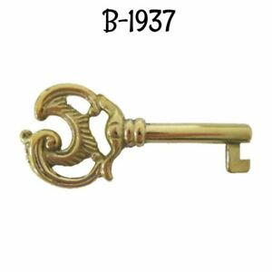 Antique Key Nickel Plated Cast Brass Key Skeleton Antique Furniture Key Old Key