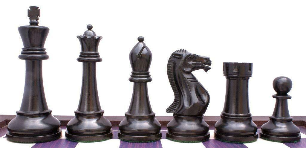 Winchester Series Premium Staunton 4  Chess Pieces in Ebonised and Box Wood